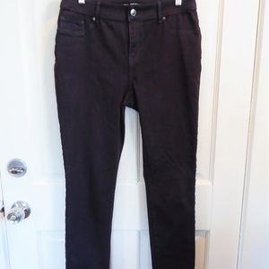 CHICO'S SZ 0 MS 4/6 PLUM COATED JEANS JEGGINGS